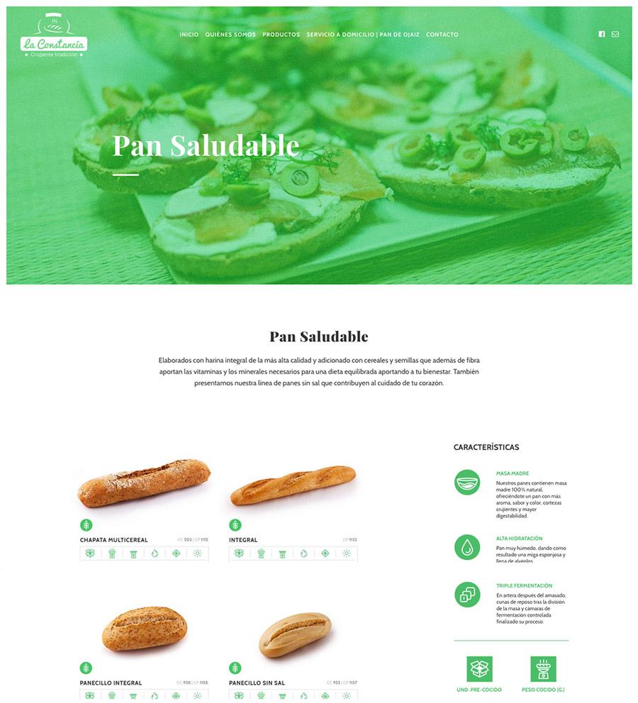 Panadería LA CONSTANCIA web